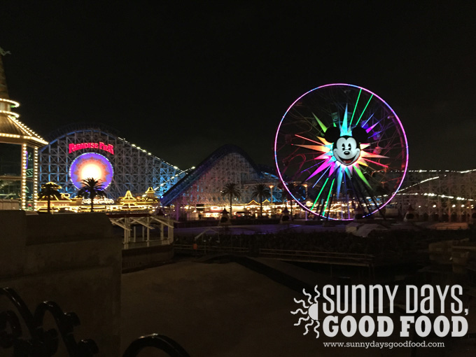 Mickey's Fun Wheel at night