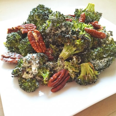 Roasted Broccoli Salad with Toasted Pecans