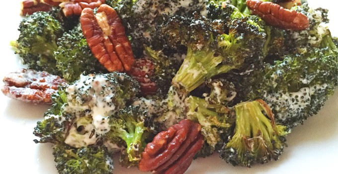 Roasted Broccoli and Pecan Salad